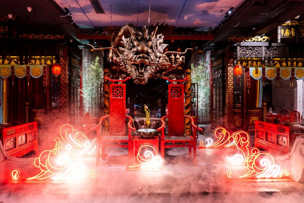 Dragon Feast, a high-end Sichuan hotpot restaurant on the Bund. Photo by Rachel Gouk.