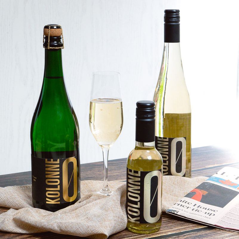 Kolonne 0, a non-alcoholic wine from Berlin, Germany, is now being distributed in Shanghai, China. Photo by Rachel Gouk.