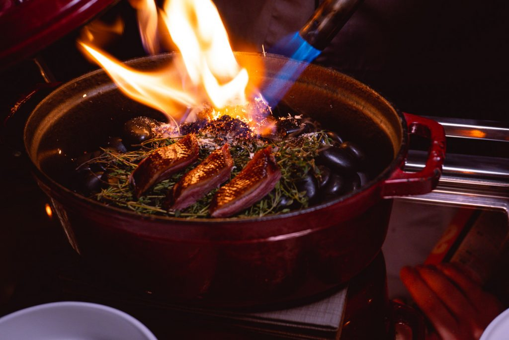 Yan Xiang, tea smoked duck at The Peacock Room, a contemporary Chinese restaurant in Shanghai. Photo by Rachel Gouk