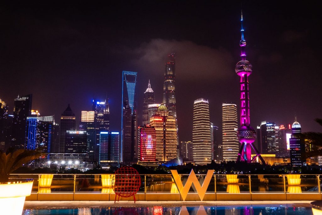 Hotels in Shanghai: W Shanghai. Photo by Rachel Gouk.