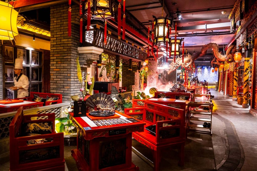 Best restaurants in Shanghai on the Bund: The Way of the Dragon, a high-end Sichuan hotpot restaurant. Photo by Rachel Gouk.
