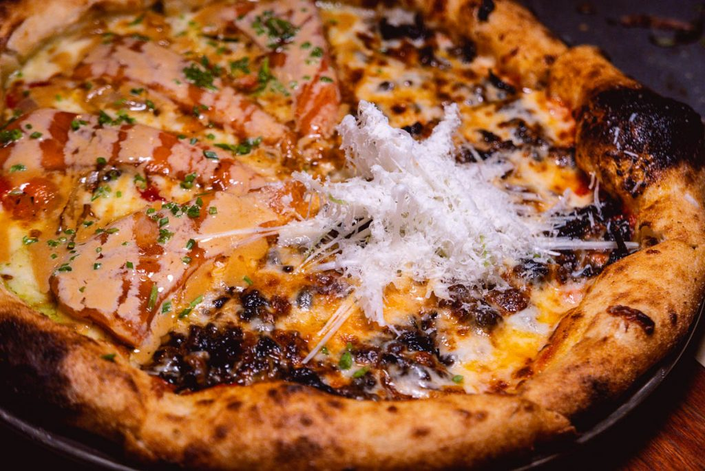 Pizza at O'Mills, a bakery and bistro in Shanghai. Photo by Rachel Gouk.