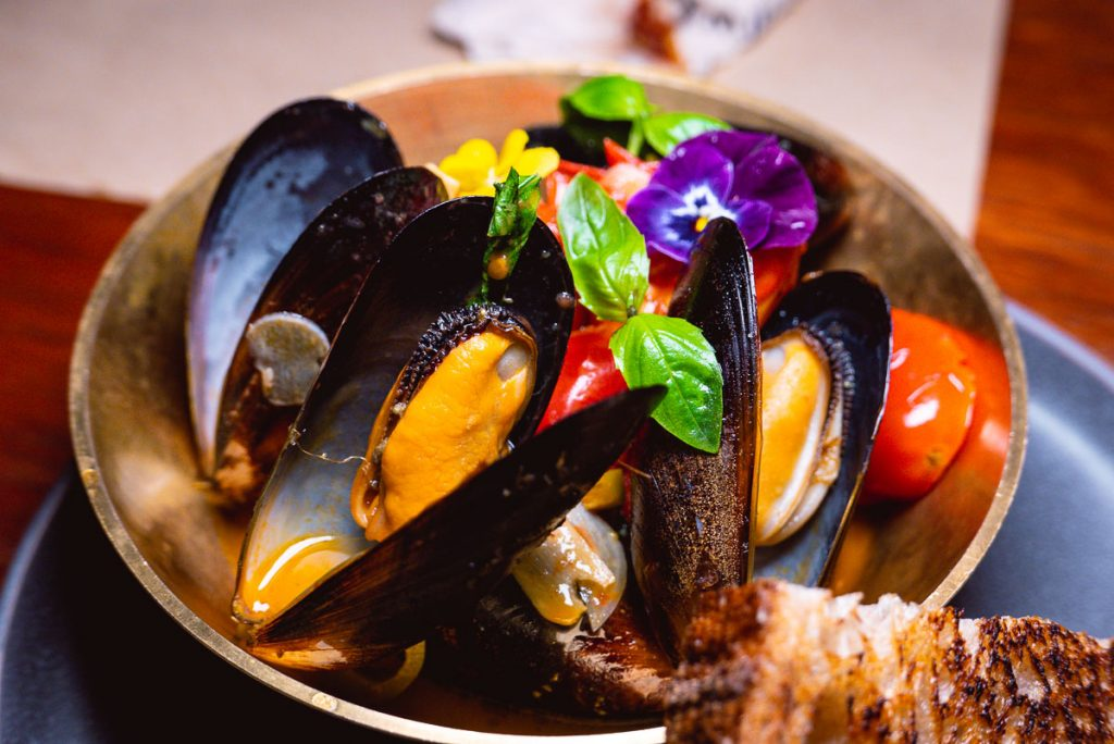 Mussels at O'Mills, a bakery and bistro in Shanghai. Photo by Rachel Gouk.