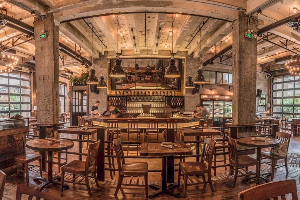 Stone Brewing, a craft beer bar in Shanghai.
