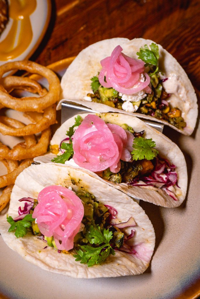 Tacos at Stone Brewing, a craft beer bar in Shanghai. Photo by Rachel Gouk.