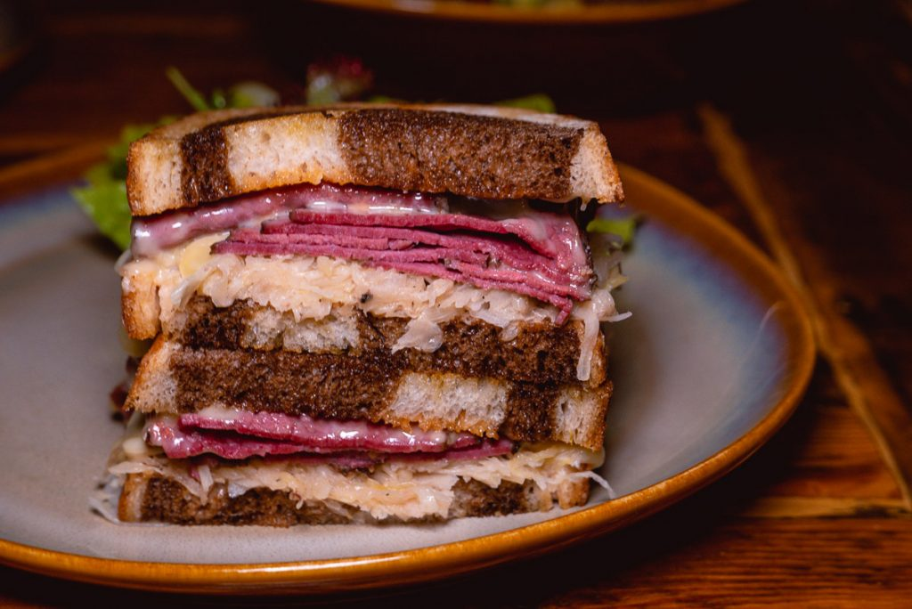 Sandwiches at Stone Brewing, a craft beer bar in Shanghai. Photo by Rachel Gouk.
