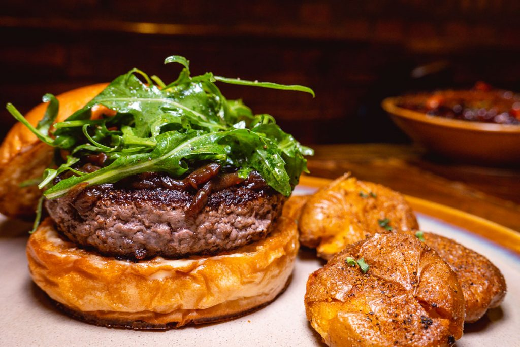 Burgers at Stone Brewing, a craft beer bar in Shanghai. Photo by Rachel Gouk.