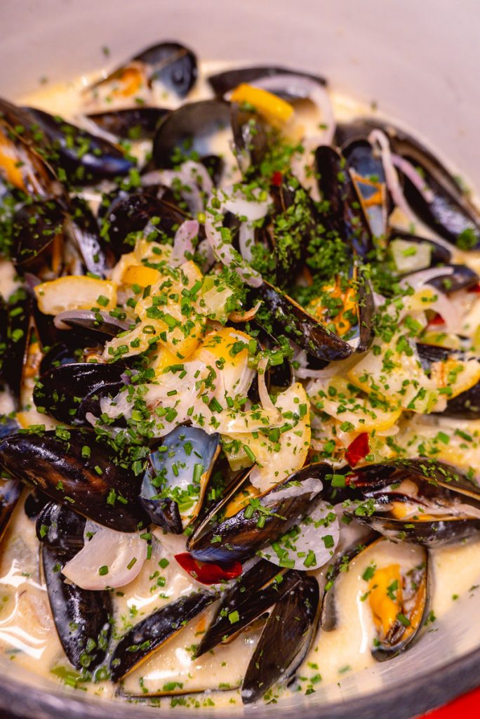 Mussels at Tomatito, a Spanish tapas restaurant in Shanghai. Photo by Rachel Gouk.