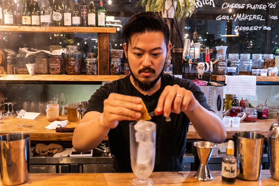 Michael Chen, bartender at The Cannery. Photo by Rachel Gouk