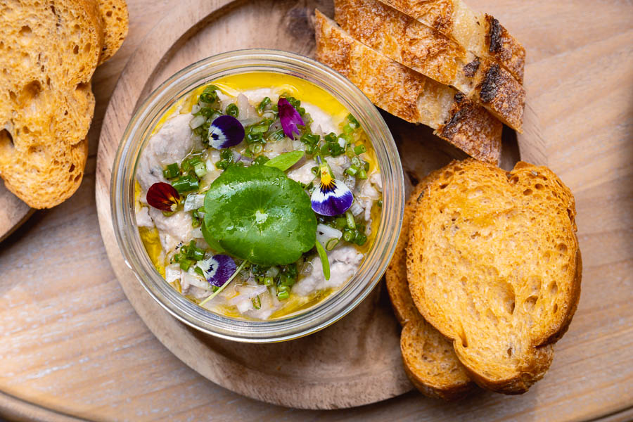 Tuna Rillettes at Popot, a cafe in Shanghai serving French food in eco-friendly glass jars. Photo by Rachel Gouk.