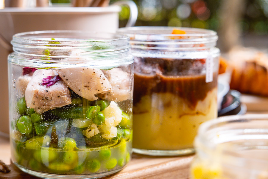 Popot, a cafe in Shanghai serving French food in eco-friendly glass jars. Photo by Rachel Gouk.