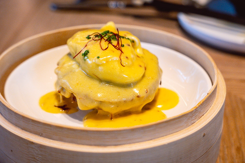 Eggs benedict at Brunch at Heritage by Madison, a restaurant in Shanghai. Photo by Rachel Gouk.