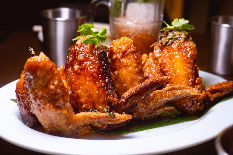 Chicken wings at KIN, a Thai restaurant in Shanghai. Photo by Rachel Gouk.
