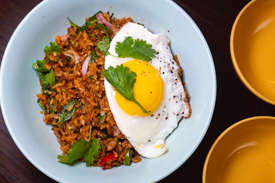 Fried rice at KIN, a Thai restaurant in Shanghai. Photo by Rachel Gouk.