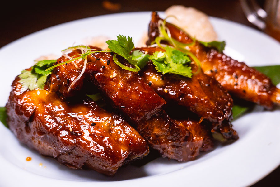 Tamarind Glazed Ribs at KIN, a Thai restaurant in Shanghai. Photo by Rachel Gouk.