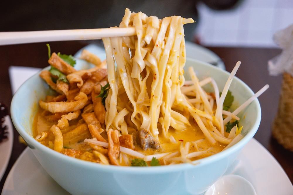 Khao Soi noodles at KIN, a Thai restaurant in Shanghai. Photo by Rachel Gouk.