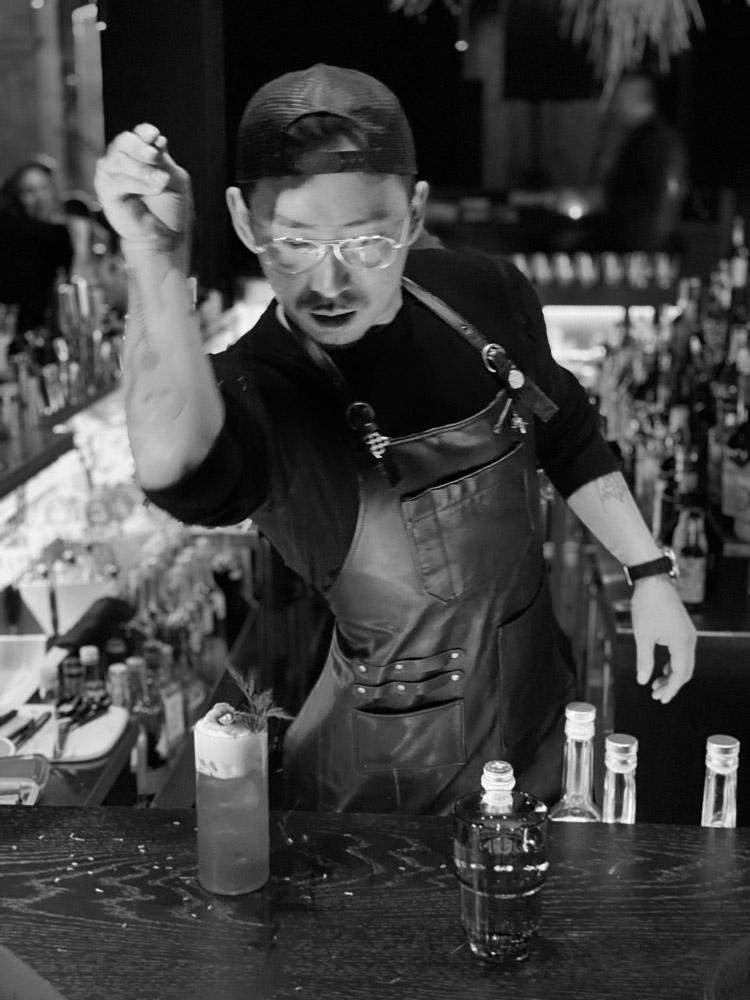 Award winning bartender Cross Yu,  DMBA 2019 Bartender of the Year and Founders Award by DRiNK Magazine Asia.