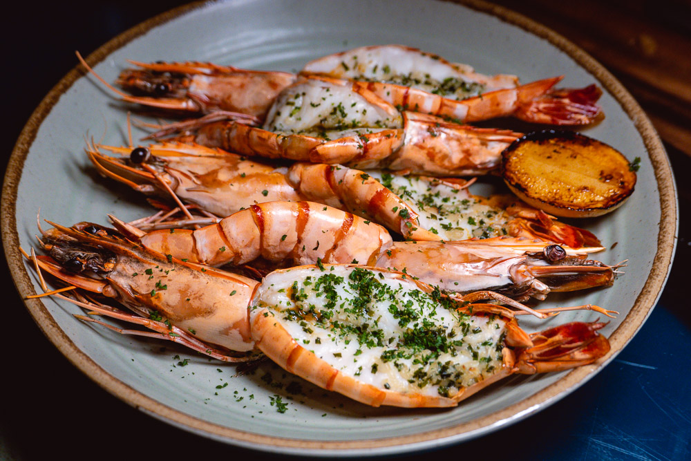 Prawns at Chameleon, a cocktail bar and restaurant in Shanghai. Photo by Rachel Gouk.