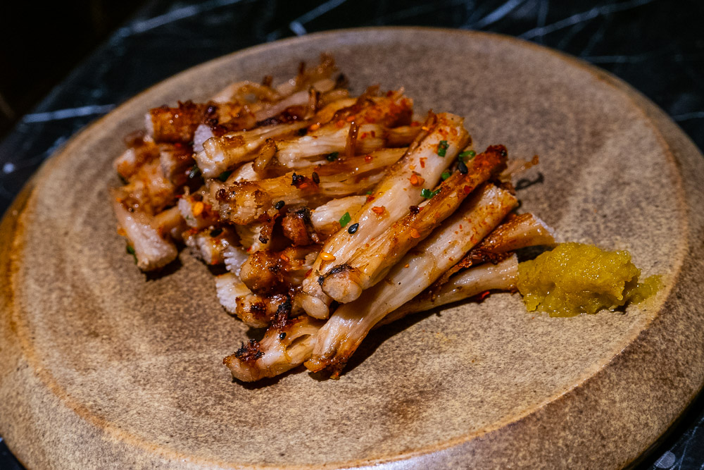 Pig nose tendons at High Yaki, a Japanese restaurant in Shanghai specializing in yakitori and yakiniku. Photo by Rachel Gouk.