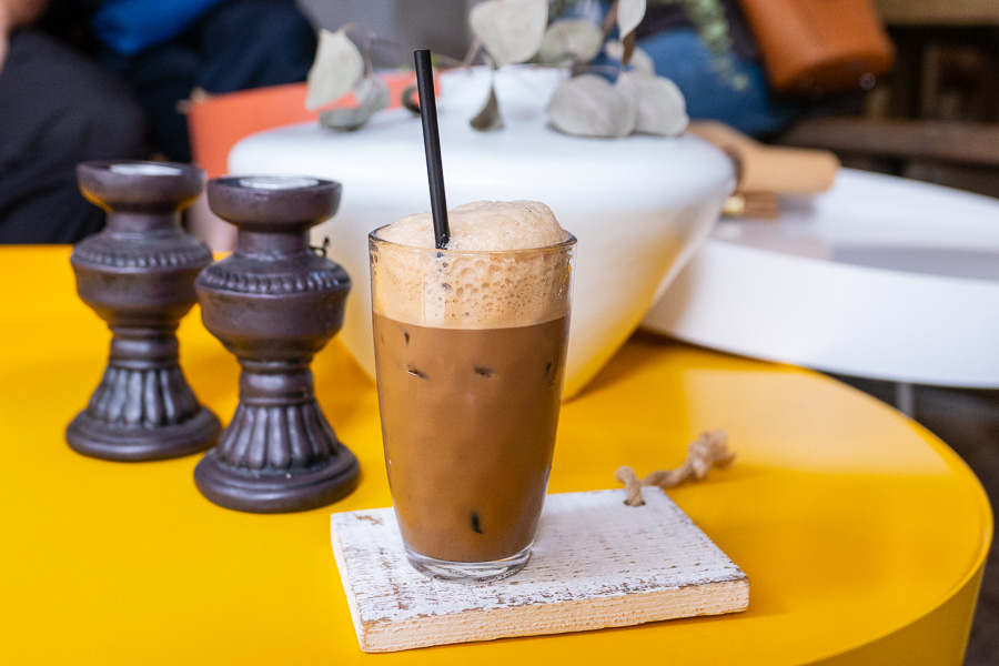 Vietnamese Iced Coffee at Lady Vietnam, a Vietnamese restaurant on Yongkang Lu, Shanghai. Photo by Rachel Gouk.