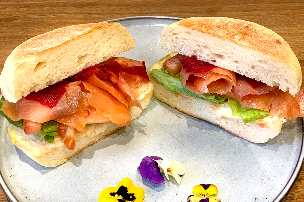 Where to eat sandwiches in Shanghai—breakfast sandwiches at Brut Eatery.