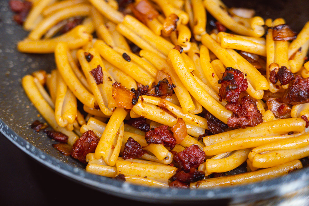 Easy recipes: Sobrassada pasta. Photo & Recipe by Rachel Gouk @ Nomfluence.