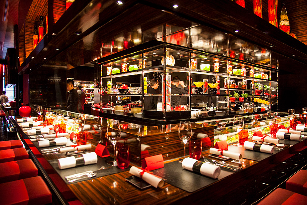 Best restaurants in Shanghai on the Bund - L'Atelier de Joel Robuchon. Photo by Rachel Gouk.