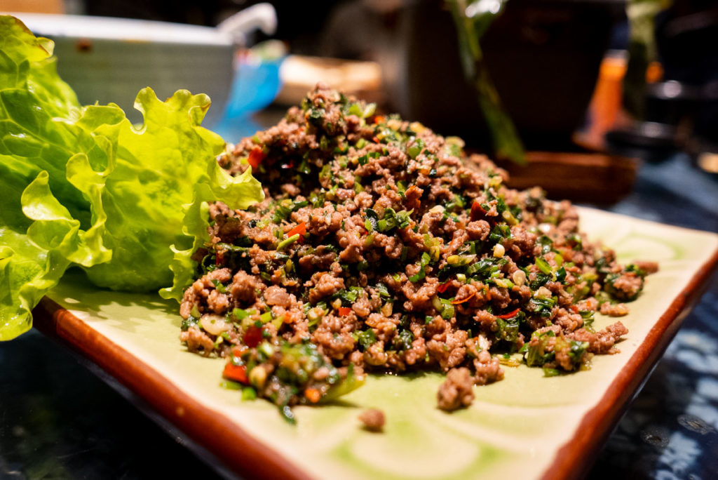 Minced beef. Yunnan cuisine at Lotus Eatery, a popular restaurant in Shanghai. Photo by Rachel Gouk @ Nomfluence.