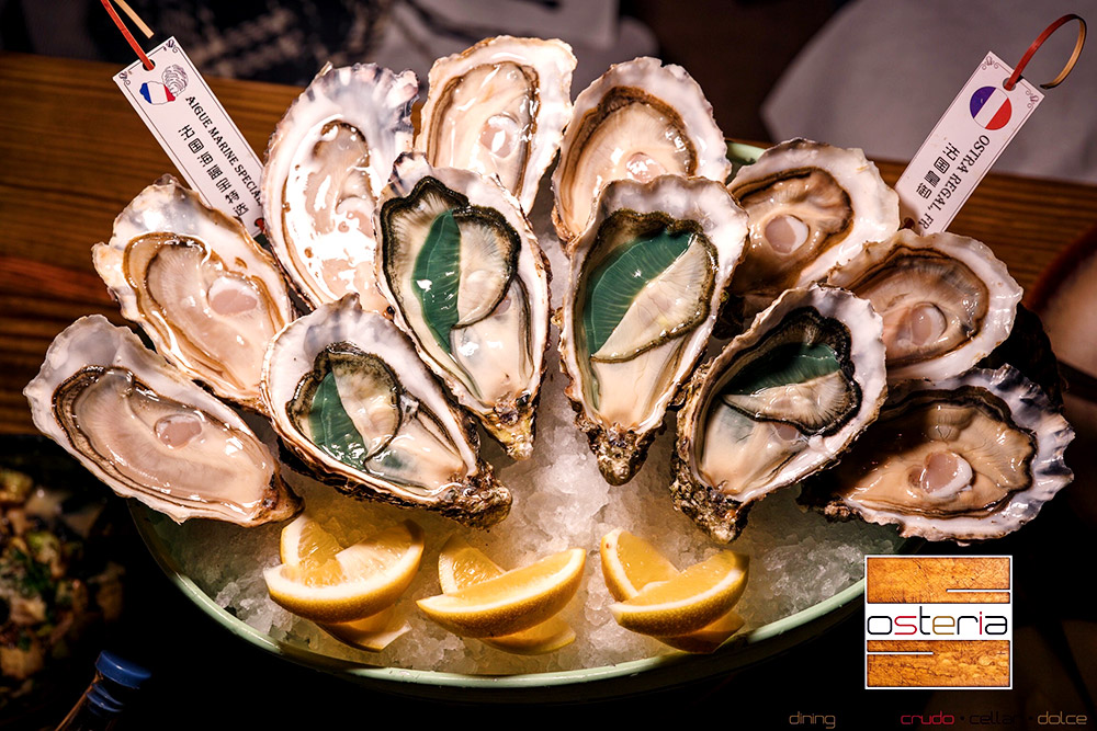 Best oyster deals in Shanghai: Osteria Italian restaurant. Read more on Nomfluence.