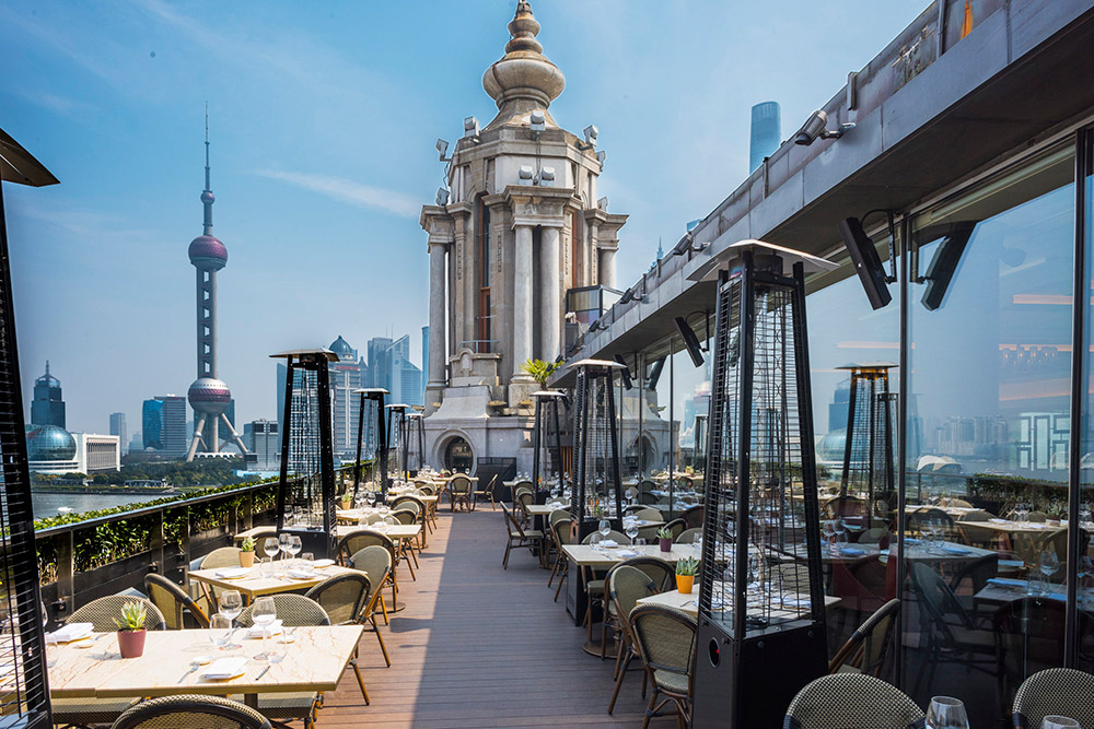 Best restaurants in Shanghai on the Bund - Contemporary American restaurant POP American Brasserie. Photo by Rachel Gouk.
