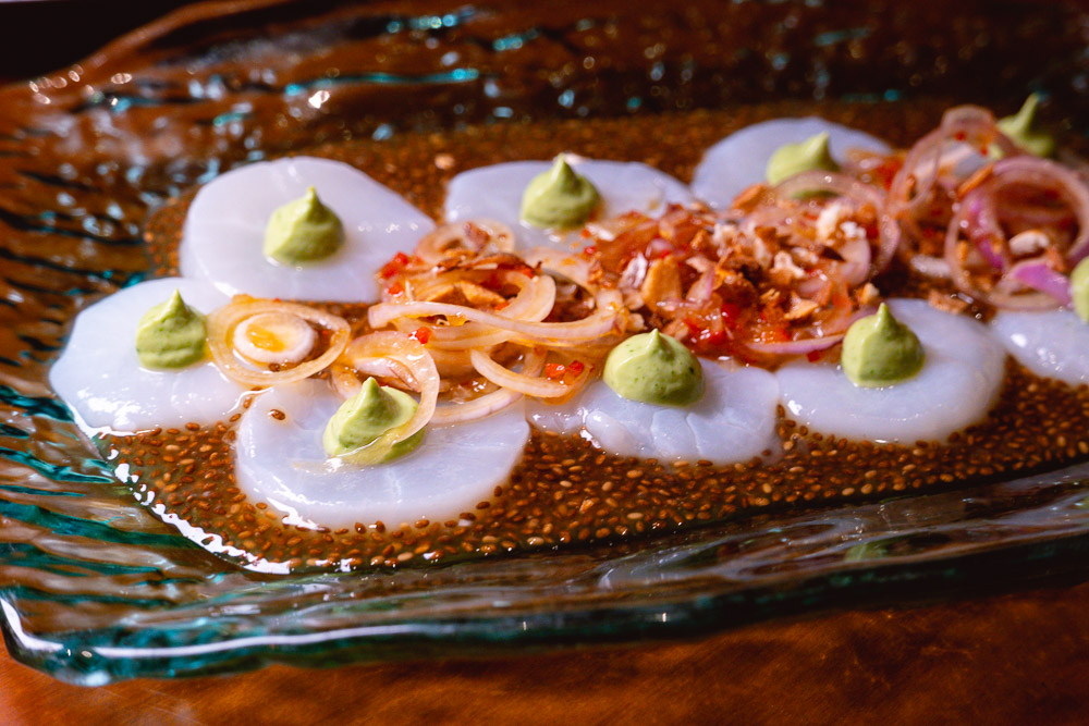 Tiradito at Colca, Peruvian restaurant's second location at North Bund, Hongkou, Shanghai. Photo by Rachel Gouk @ Nomfluence.