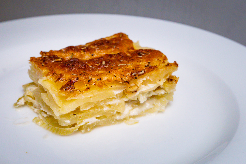 3 recipes with fromage blanc: Potato Gratin. Photo by Rachel Gouk @ Nomfluence.