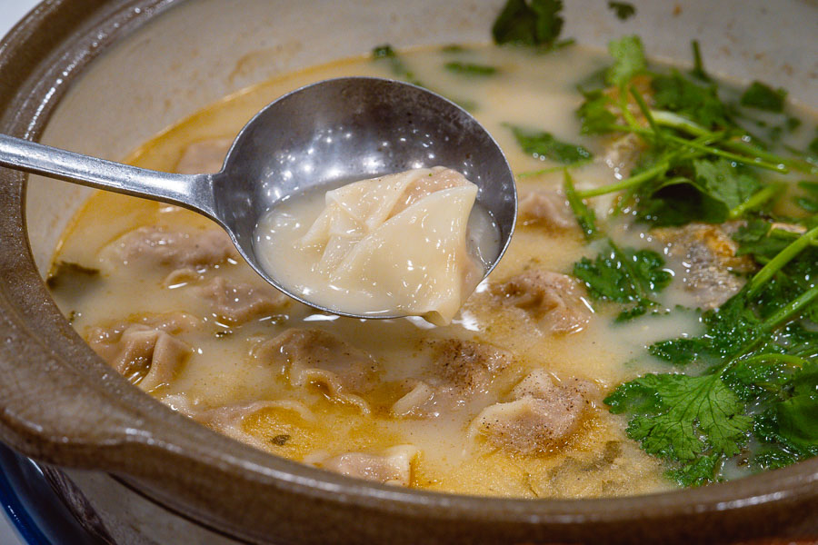Yellow Croaker soup with wontons at Rui Fu Yuan, a Shanghainese restaurant in Shanghai. Photo by Rachel Gouk @ Nomfluence.