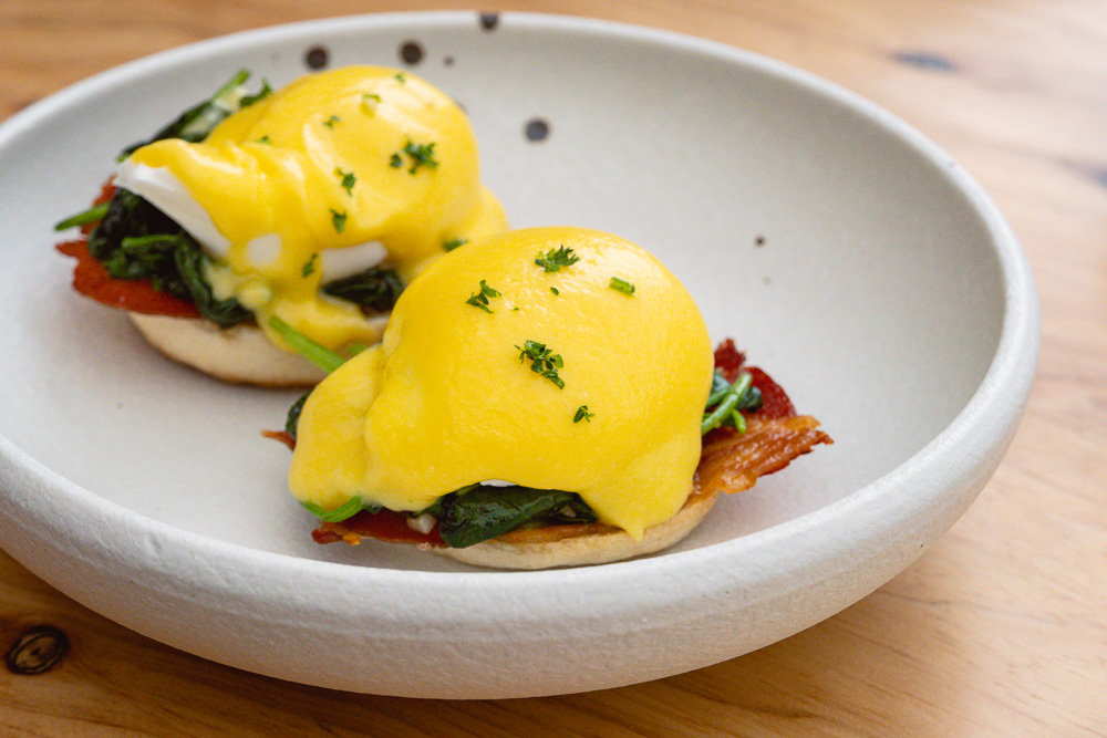 Eggs Benedict, Sunday BBQ brunch at Chameleon, a restaurant/bar in Shanghai. Photo by Rachel Gouk @ Nomfluence.