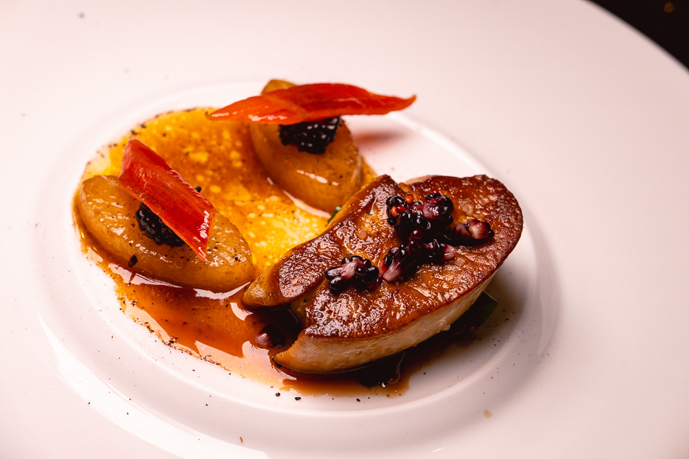 Seared foie gras rougie at Taian Table, Michelin two-star restaurant in Shanghai. Photo by Rachel Gouk @ Nomfluence.