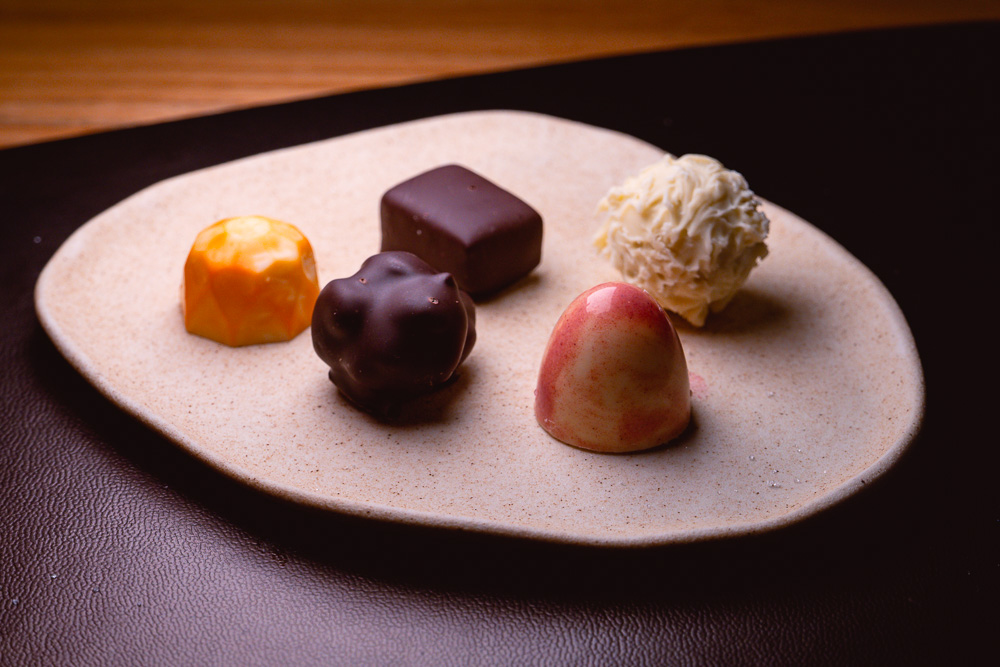 Chocolates at Taian Table, Michelin two-star restaurant in Shanghai. Photo by Rachel Gouk.