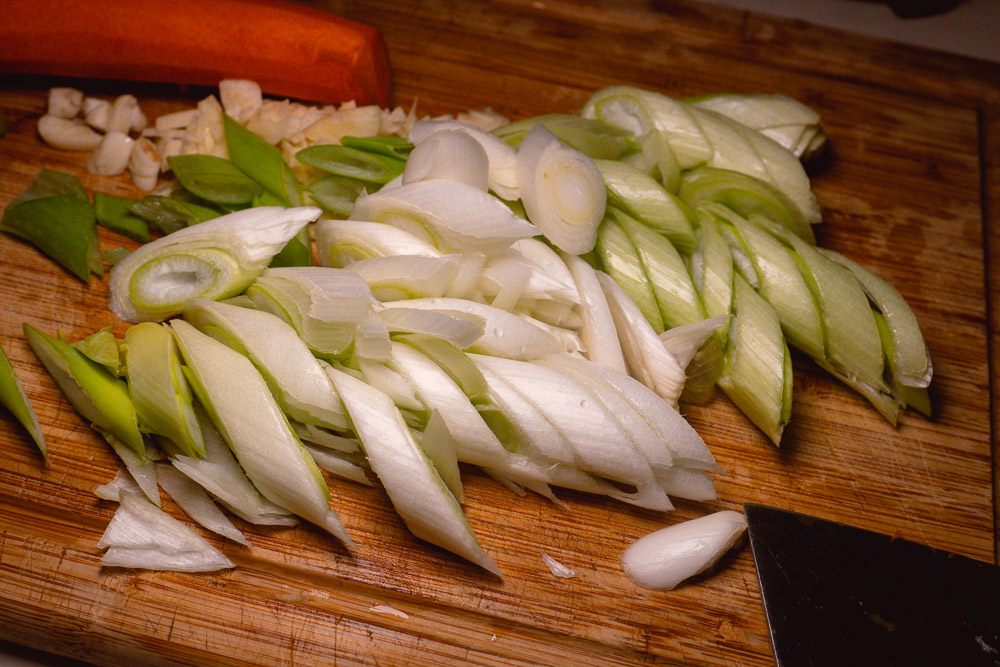 Easy recipes: Quarantine cooking with chicken breast. Soy-braised chicken with leeks. Photos by Rachel Gouk @ Nomfluence.