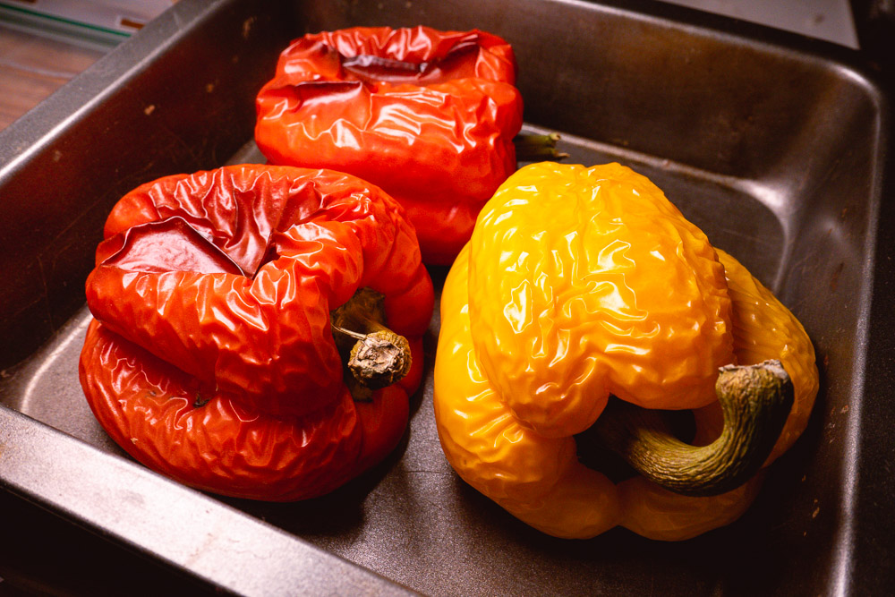 Roasted bell peppers. Photo & Recipe by Rachel Gouk @ Nomfluence.