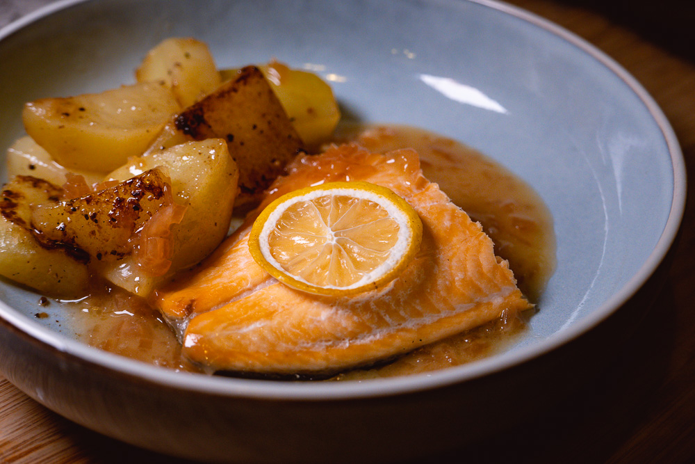 Arctic Char with beurre blanc. Products from acornfresh.  Photo & Recipe by Rachel Gouk @ Nomfluence