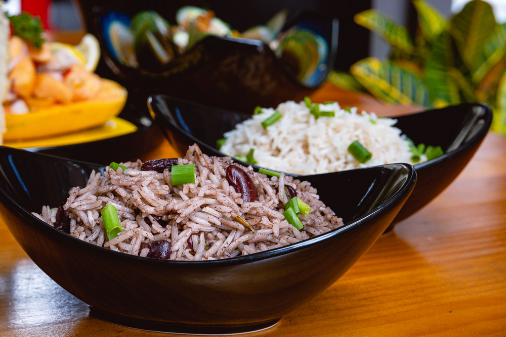 Rice and Peas at Area 501, a Caribbean restaurant and bar in Shanghai. Photo by Rachel Gouk @ Nomfluence.