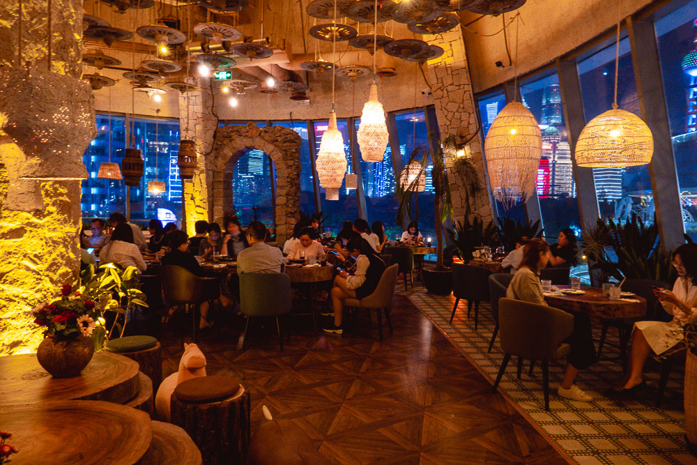 Barbarian North Bund, a restaurant and cocktail bar in Shanghai. Photos by Rachel Gouk @ Nomfluence