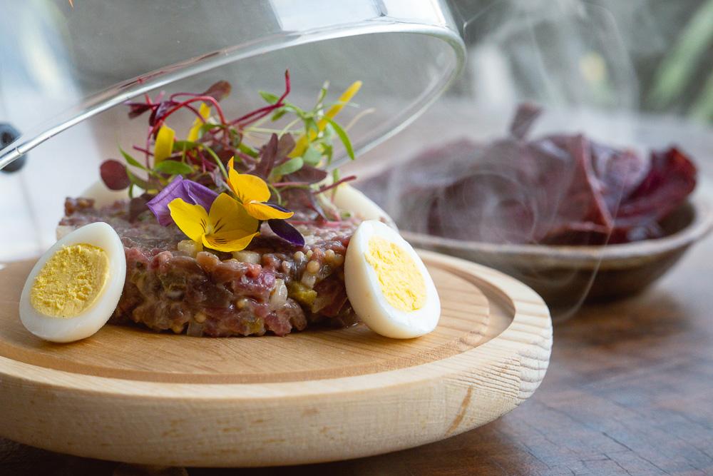 Beef tartare at Barbarian North Bund, a restaurant and bar in Shanghai. Photo by Rachel Gouk @ Nomfluence.