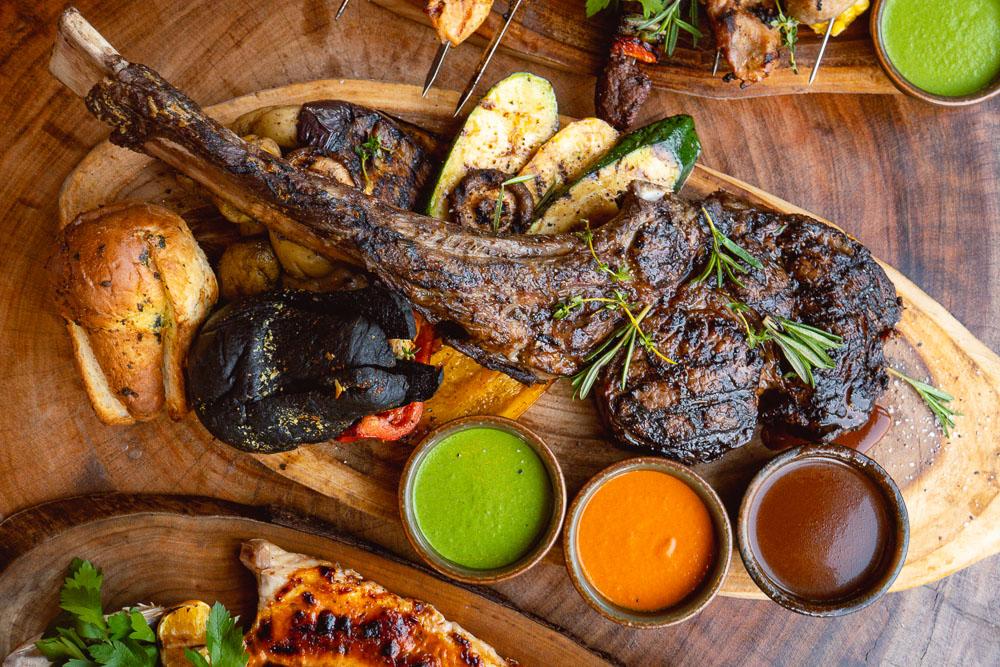 Tomahawk Steak at Barbarian North Bund, a restaurant in Shanghai. Photo by Rachel Gouk @ Nomfluence.