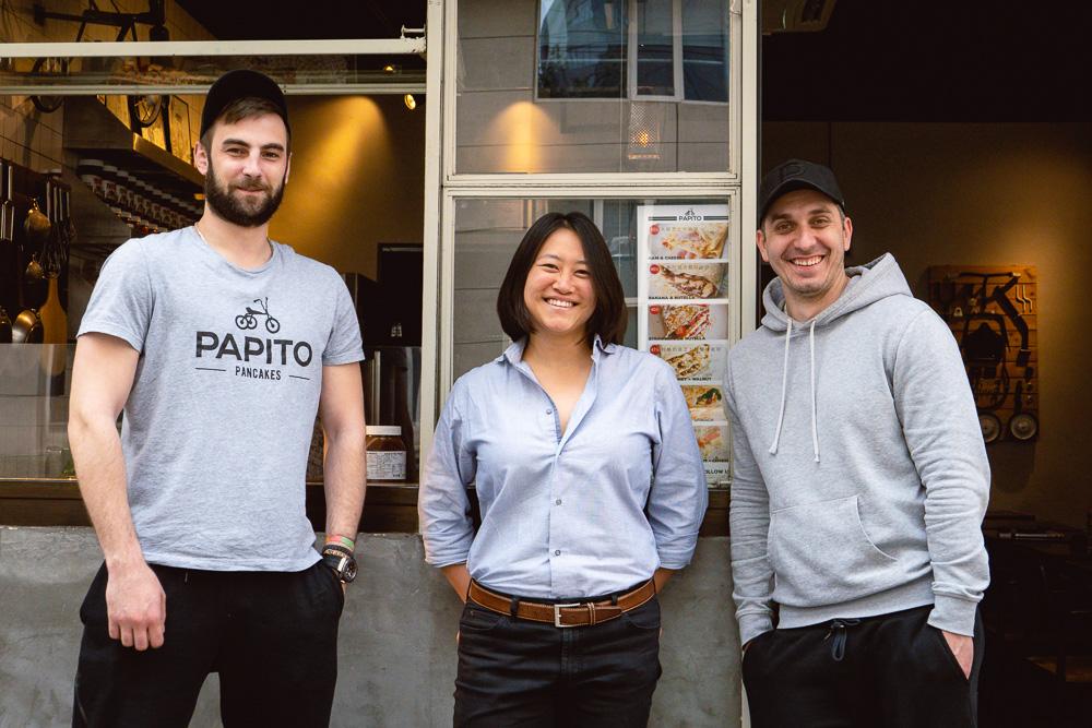 Nomfluence x Papito Pancakes collaboration pancake. Papito Pancakes does Serbian style pancakes in Shanghai. Photo by Rachel Gouk @ Nomfluence.