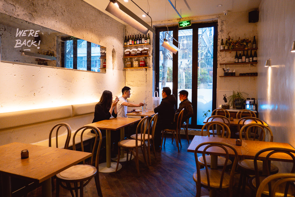SOiF, a natural wine bar in Shanghai that serves French and European-influenced bites. Photo by Rachel Gouk @ Nomfluence.