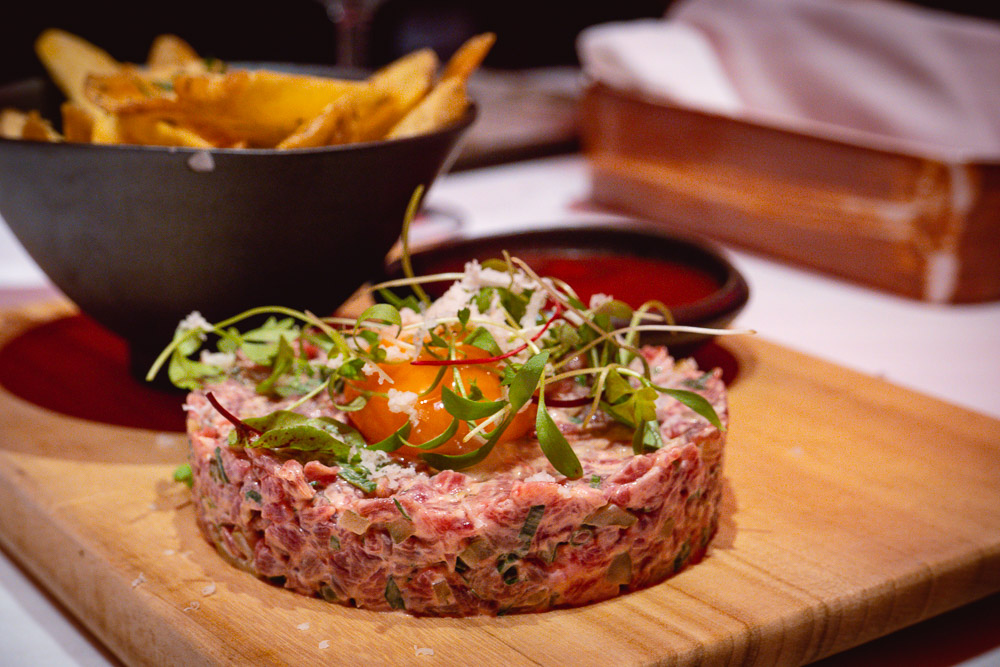 Beef tartare at Rye & Co, a classic American steakhouse in Shanghai. Photo by Rachel Gouk @ Nomfluence.