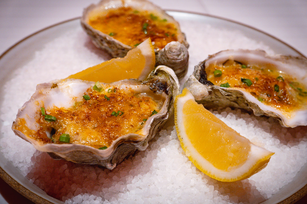 Oysters rockefeller at Rye & Co, a classic American steakhouse in Shanghai. Photo by Rachel Gouk @ Nomfluence.