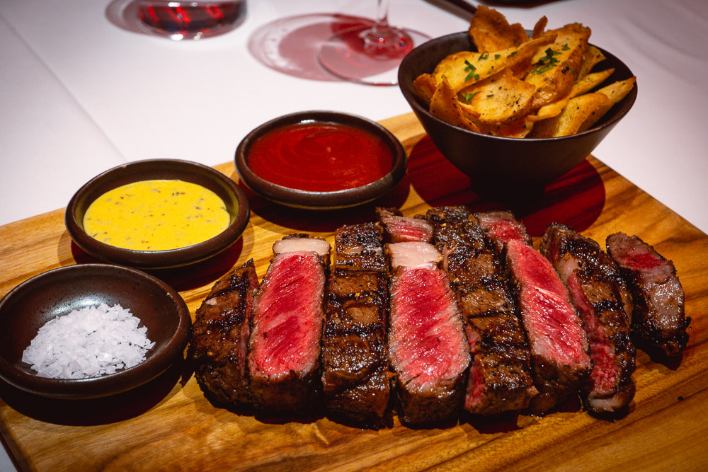 Rib eye at Rye & Co, a classic American steakhouse in Shanghai. Photo by Rachel Gouk @ Nomfluence.