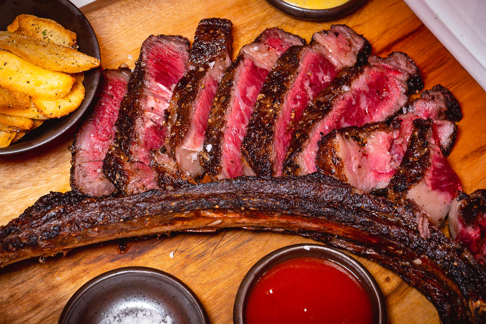 Tomahawk steaks and deals at Rye & Co, a classic American steakhouse in Shanghai. Photo by Rachel Gouk @ Nomfluence.