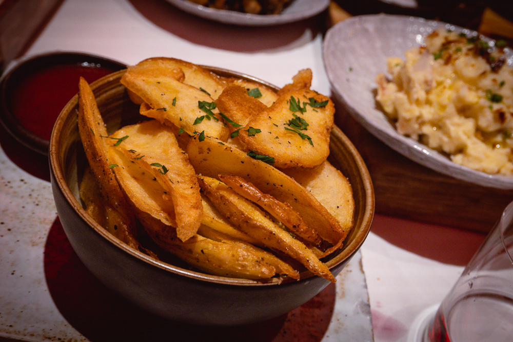 Fries at Rye & Co, a classic American steakhouse in Shanghai. Photo by Rachel Gouk @ Nomfluence.